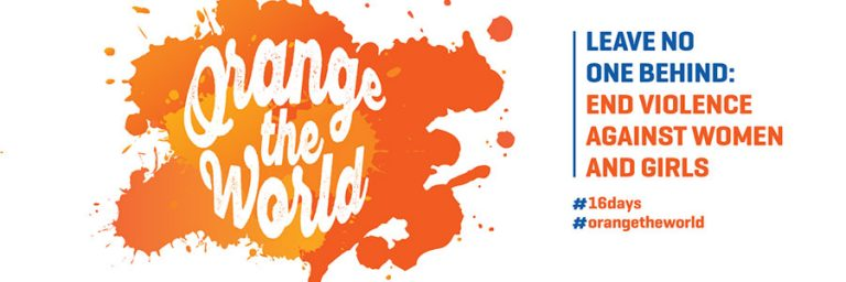 Orange the World with us on November 30